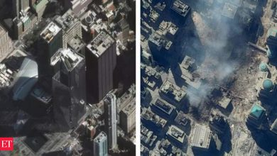 Photo of 전후: 9/11 공격의 위성 이미지와 재건된 Word Trade Center 사이트 – The Economic Times Video